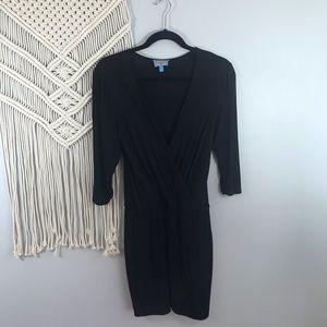 PLENTY BY TRACY REESE Black Wrap Dress P Small